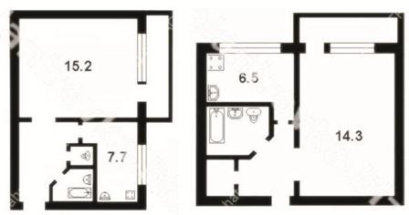 Комнатные квартиры